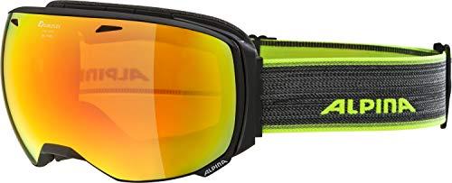 ALPINA BIG HORN Skibrille, Unisex– Erwachsene, black matt, one size