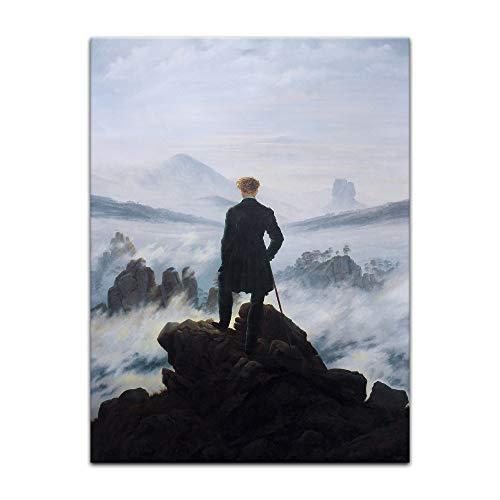 Kunstdruck Poster - Caspar David Friedrich Der Wanderer über dem Nebelmeer 20x30 cm ca. A4 - Alte Meister Bild ohne Rahmen