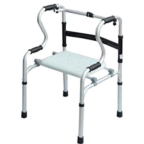 RLXDPP opvouwbare rollator, in hoogte verstelbaar met 4 punten, met zitting, geschikt voor senioren