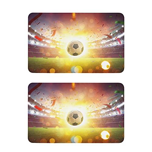 Hunihuni - Imán para nevera de fútbol deportivo, imanes de nevera, adhesivos decorativos para lavavajillas, para casa, cocina, armario, oficina, pizarra, juego de 2