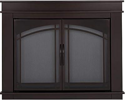 Pleasant Hearth FN-5701 Fenwick Fireplace Glass Door, Oil Rubbed Bronze, Medium from Pleasant Hearth
