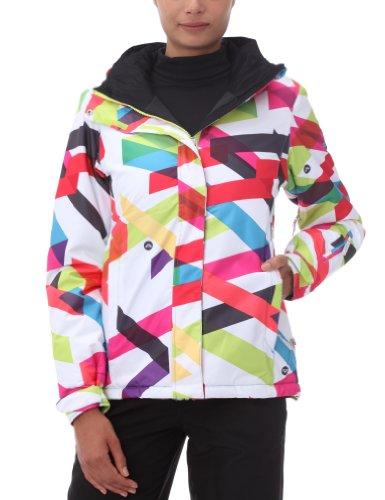 Quiksilver Roxy Jet Zipped - Chaqueta de esquí para Mujer, tamaño S, Color Blanco