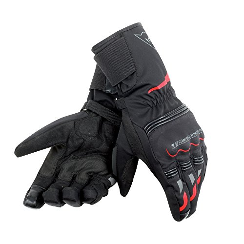Dainese-TEMPEST UNISEX D-DRY LONG Guantes, Negro/Rojo, Talla XL