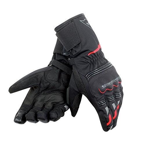 Dainese-TEMPEST UNISEX D-DRY LONG Handschuhe, Schwarz/Rot, Größe L