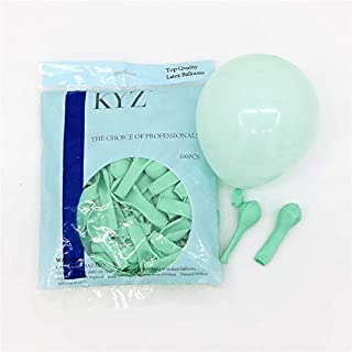 100ps Pastel Latex Balloons 10 Inches Assorted Macaron Candy Colored Latex Party Balloons for Wedding Graduation Kids Birthday Party Christmas Baby Shower Party Supplies Arch (Mint Green, 10inch)