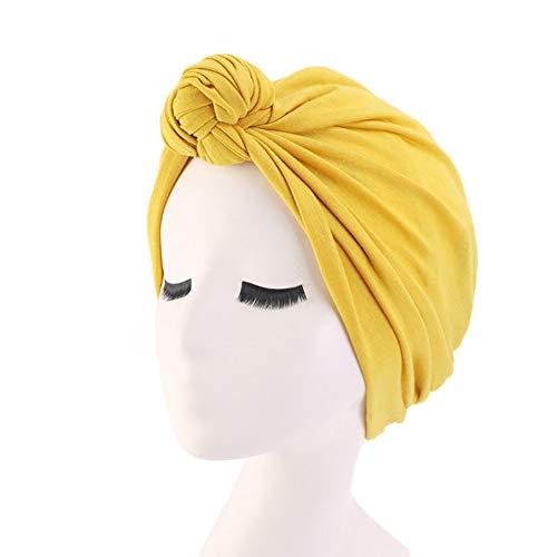 shyymaoyi Hüte, Einfarbige Elastische Stirnbänder Für Muslimische Frauen, Und Bequeme Zehenkappen Baumwolle Gelb