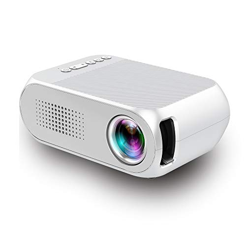 Mini Projector,lejiada Portable HD Projector 600LM 1080P Smart Home Cinema Theater Video Projector,White