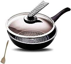Kitchen Cookware 28CM Wok nonstick Aluminum Alloy Flat Bottom Wok Steak Pot Cooking Pot,easy to clean