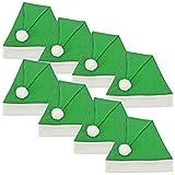 Ciffre 8 puso la Gorra Gorro de Navidad Papá Noel Santa Verde