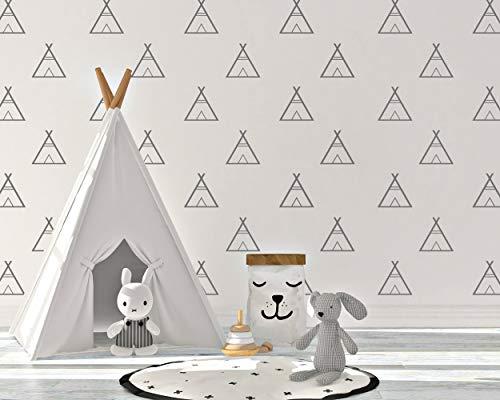 El LxLab | Pegatina de Pared Tee Pee | Pack de Pegatinas | Pack 30 Unidades | Vinilo Decorativo | Decoración del Cuarto de Niños | Alta Calidad