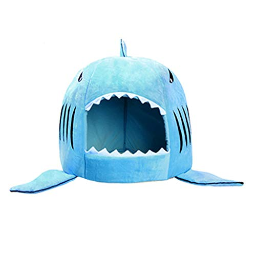 J Letto Universale per Animali Domestici a Forma di squalo per Quattro Stagioni, Un Letto Doppio Uso, 58x50 cm Adatto per Animali di Media e Grande Taglia (Rimovibile e Lavabile)