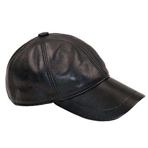 Dazoriginal Berretto da Baseball cap Pelle Cappellino Uomo Visiera Cappello Nero