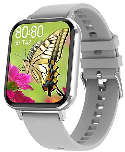 DSY Smart Watch 1.78 Écran Tactile Complet Bracelet Smatch Bande Smart Sports Watch Santé Activité Santé Tracker Smartwatch Bracelet Smartwatch pour Hommes Femmes, Gris Montre intellig