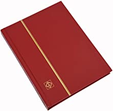 """Stamp Album 32-Black Page Stamp Book Stockbook Lighthouse LS2/16 Red (Size: 6 1/2"""" x 9"""")"""