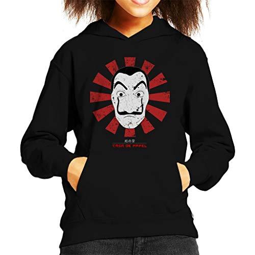 Casa De Papel Retro Japans Sweatshirt met capuchon voor kinderen