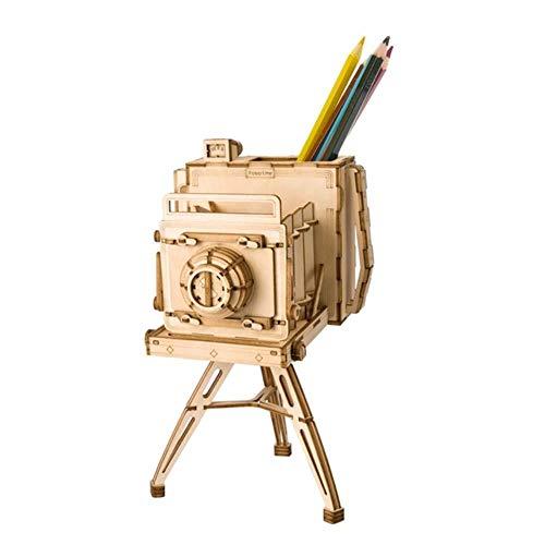 QINGCANG Diy Pintura al óleo Kit de punto de cruz 7 clases Diy 3D de madera Animal&Edificio Rompecabezas Juego Asamblea de Juguete Regalo Para Niños Adulto Modelo Kits Tg207