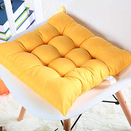 TIAS Premium Sitzkissen, Stuhlkissen, Sitzkissen für drinnen und draußen, Garten, Terrasse, Küche & Bürostühle gelb