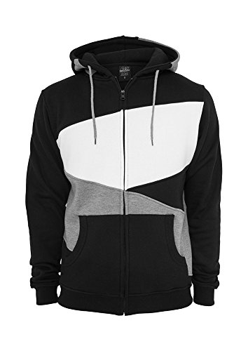 Urban Classics Bekleidung Zig Zag Hoody Pull, Multicolore (Black/Grey/White), (Taille Fabricant: X-Large) Homme