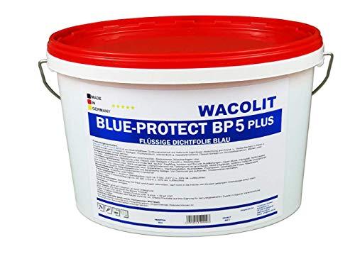 5 kg Wacolit Blue-Protect BP5 Plus Flüssige Dichtfolie, Duschabdichtung Badabdichtung Flüssige Folie