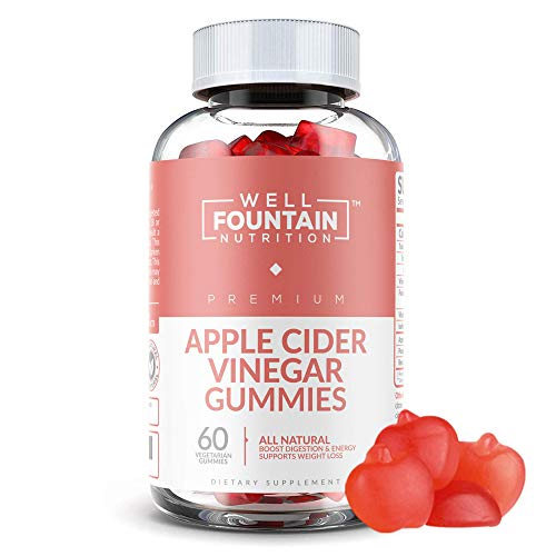 Apple Cider Vinegar Gummies - Extra Strength Organic ACV with The Mother - Supports Detox, Cleanse, Acid Reflux, Weight Control & Immunity - Vegan Gummy with Vitamin B12 & B6 for Energy & Mood Boost
