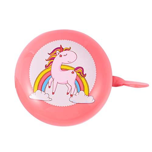 CLISPEED - Unicornio para bicicleta con campanas para niños, bicicleta, campana, animal, bicicleta, accesorios para niños, adultos, deportes al aire libre, unicornio, fiesta
