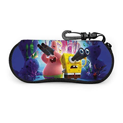 Sonnenbrille Anime Spongebob Brillenetui Schutzset Tragbarer Reisereißverschluss Soft Neopren Brille Bag Case