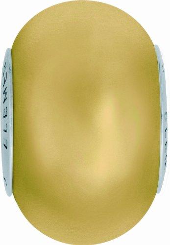 Swarovski Grand Trou Perles de Crystal de Elements Crystal BeCharmed 14mm (Crystal Gold, Acier affiné), 1 Pièces