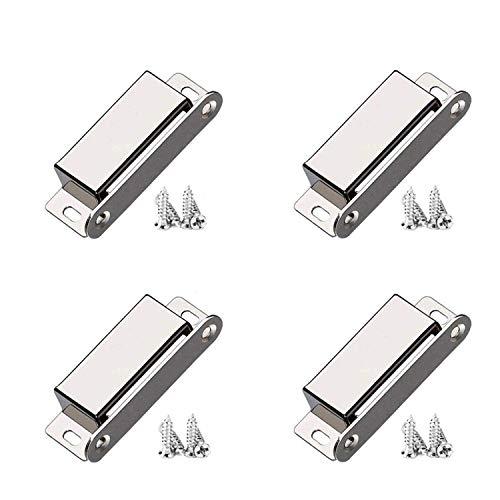 Magnetschnäpper, 4 Stück 10 kg Zugkraft, Türmagnet Stark Schranktür Magnet Schrankmagnete Magnetverschluss Schrank Türschließer Schranktür Edelstahl Möbelmagnete