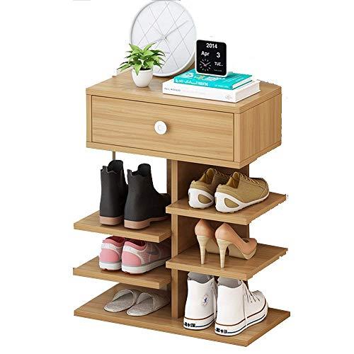 ZAIHW Zapatero de 3/4/5/6/7 Niveles Soporte de Almacenamiento de Madera Estante Organizador de Zapatos Independiente (tamaño: 55 CM)