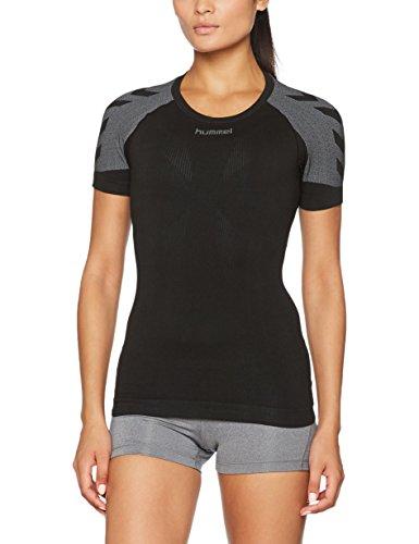 hummel Damen First Comfort SS Wo Jer T-Shirt, schwarz (Black), M/L