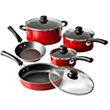 Tramontina 9-Piece Simple Cooking Nonstick Cookware Set - Red by Tramontina USA, Inc.