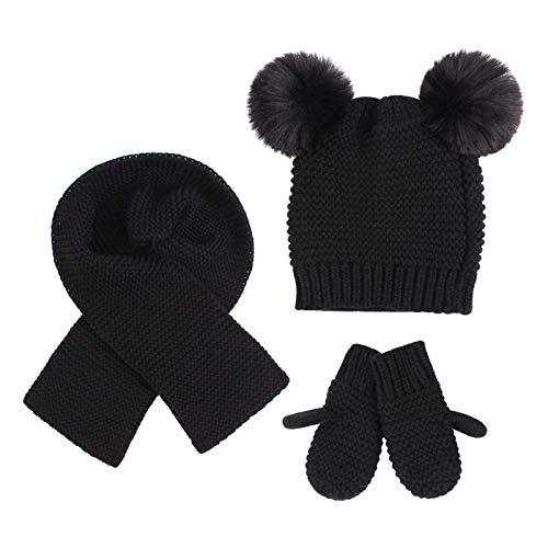 Duoyeree Baby Winter Hat Warm Scarf…