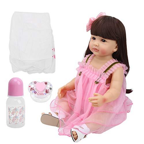Puppe, Vinyl Silikon Babypuppe, Silikon Babypuppe, Dlexible Simulation Girl Doll, sicher ungiftig zum Üben von Geschenkkindern