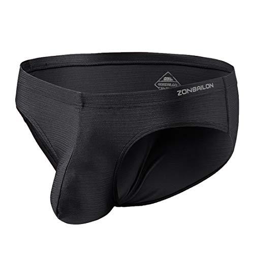 Men's Underwear Boxer Briefs Low Rise Bulge Pouch Silk Tagless Soft Pack