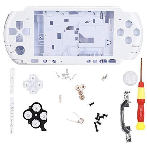 Spielekonsolenetui für PSP 3000, Gehäuse komplett mit Schraubendreher, einfaches Design, kompakt, leicht, leicht zu tragen, 5 Farben(Weiß)