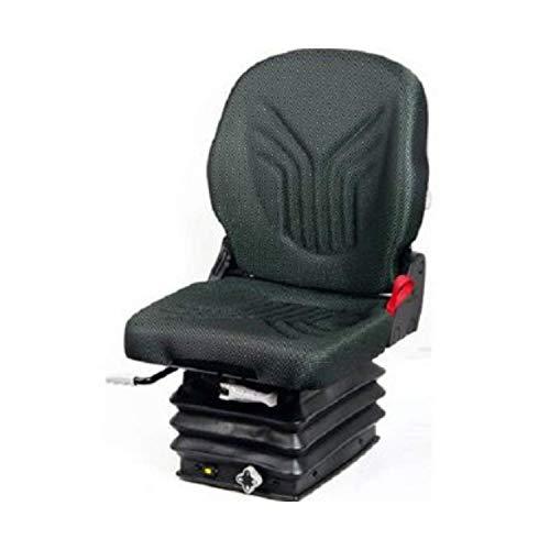 GRAMMER Compacto Basic S aus Stoff (New Design), anthrazit grün/silber, MSG 83/511 (1289042), Sitz für Traktor/Schlepper