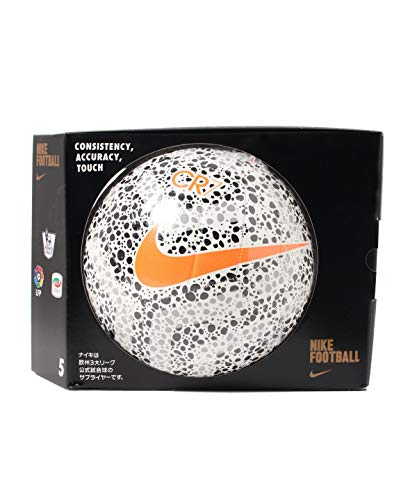 Nike Strike CR7 Soccer Ball,White/B Größe 5 White/Black/TOTAL OR