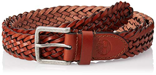 Timberland Braided Man Belt Cognac M