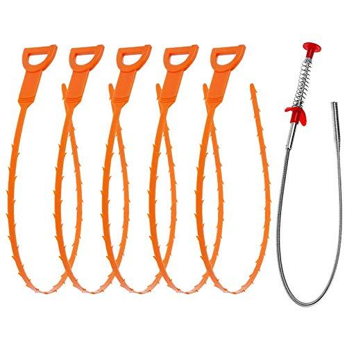 Vastar 6 in 1 Drain Snake Hair Drain with 5 Packs Drain...
