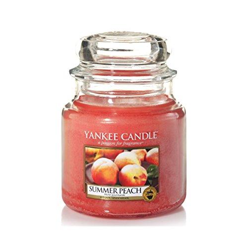 Yankee Candle Medium Jar Candle, Summer Peach