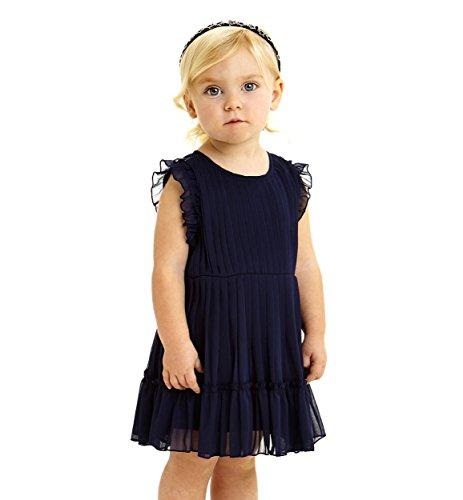 IDO Vestitino in Voile plissè per Bambina con Rouche da 2 a 6 Anni (2)