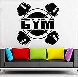 UYEDSR Stickers Muraux Powerlifting Autocollant Mural Vinyle Sport Musculation haltères Sticker Mural Gym décoration de la Maison Accessoires pour Salon 74x74cm