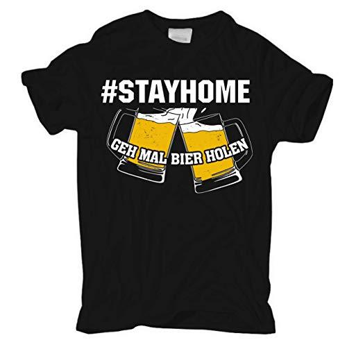 Männer und Herren T-Shirt Stayhome Bleib zu Hause Größe S - 5XL
