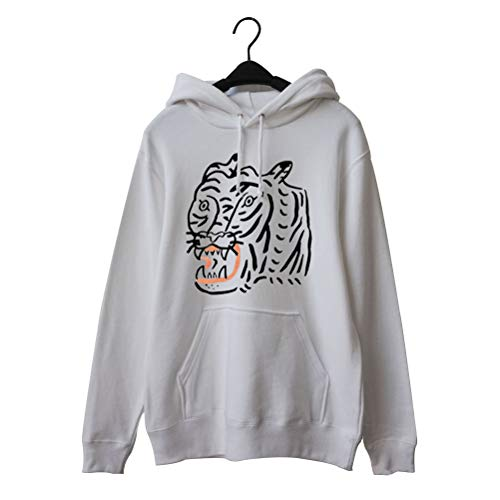 Enfei Vrouwen Tijger Grafische Casual Hoody Lange Mouw Sweatshirt met Zakken voor Tieners Meisjes