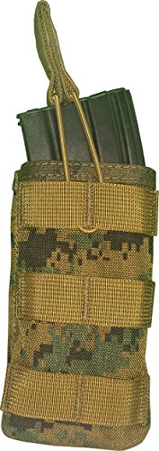 Fire Force Topless Single MOLLE M4/M16 Mag Pouch Made in USA (MARPAT Woodland)