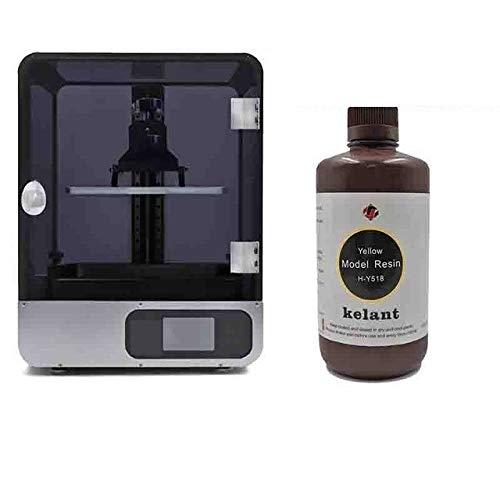 3D Printers 8.9inch LCD 2K laser 3d Printer Resin SLA Light-Cure 192 * 120 * 200MM diy kit printing mask shipping from UK (Color : Printer add resin)