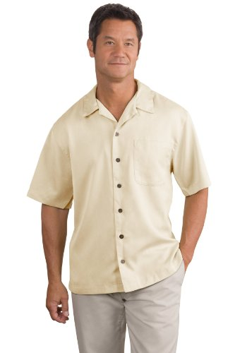Port Authority® Easy Care Camp Shirt. S535 Ivory S