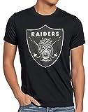 A.N.T. Tusken Raiders Camiseta para Hombre T-Shirt fútbol Americano Equipo Tatooine, Talla:M, Color:Negro