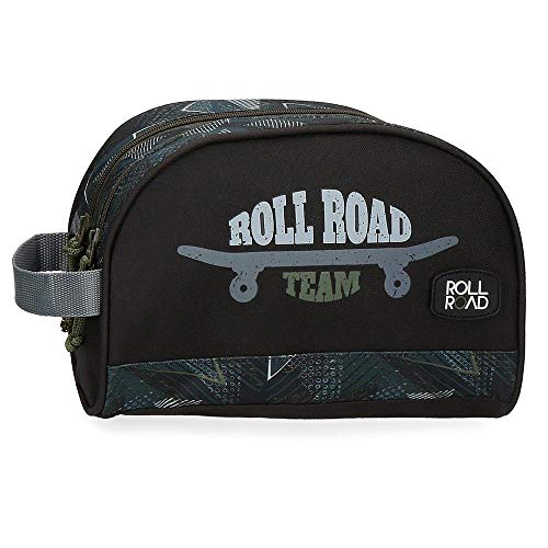 Roll Road Team Trousse de Toilette Adaptable à Double Compartiment 26x16x11 cms Negro