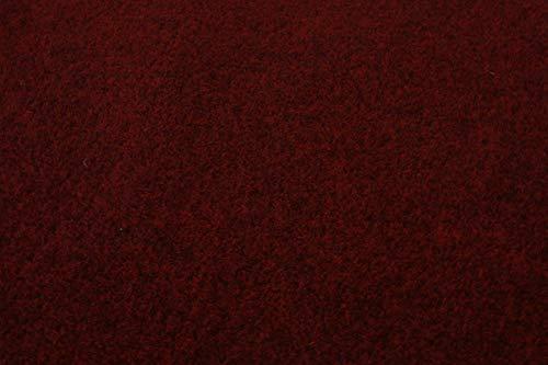 Rasenteppich Kunstrasen Premium dunkelrot rot Velours Weich Meterware, verschiedene Größen, mit Drainage-Noppen, wasserdurchlässig (200x250 cm)